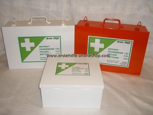 Erste Hilfe-Kasten Metall ÖNORM Z1020 Typ 1 Metallindustrie