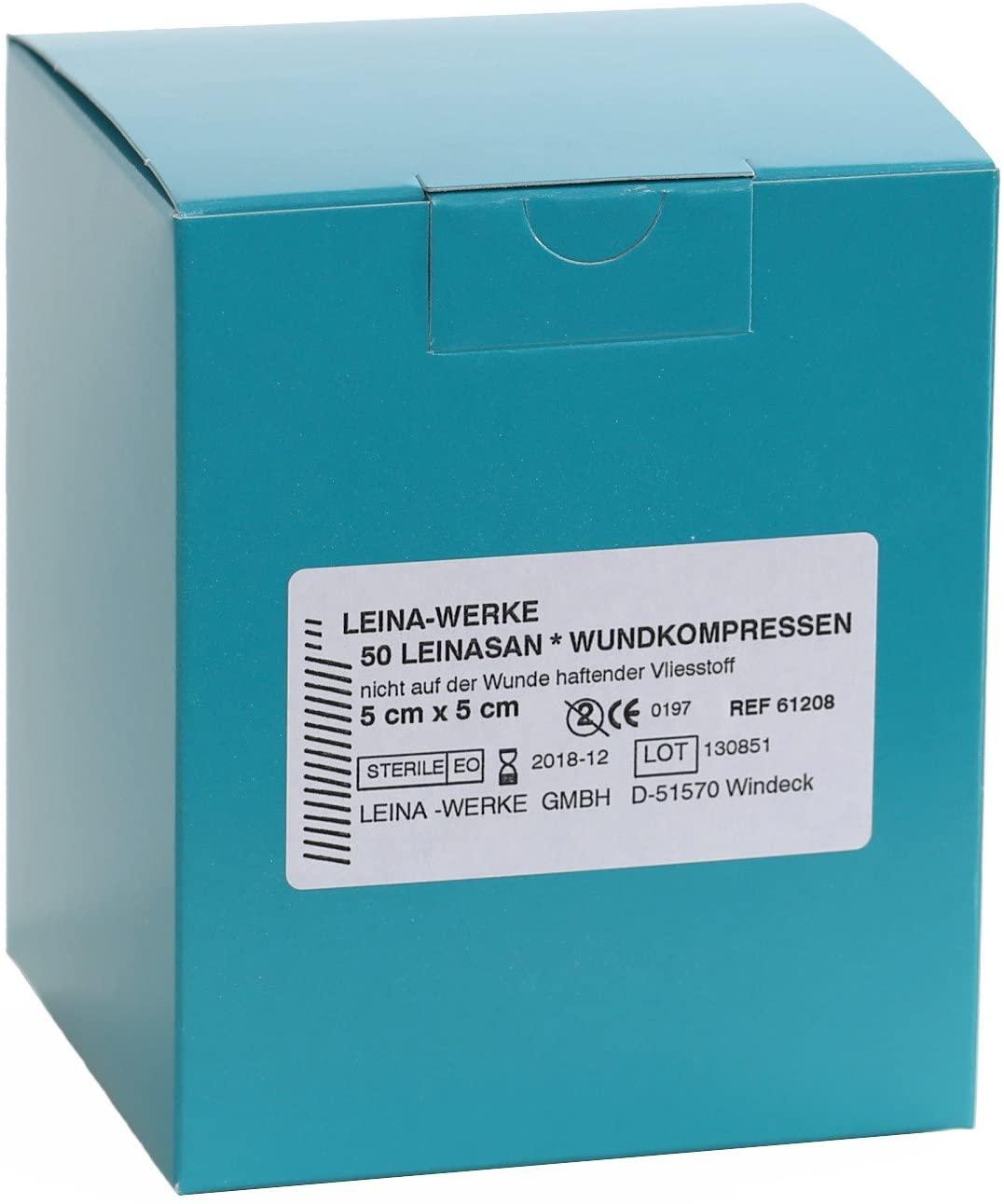 Wundkompresse (50 Stück) 5 x 5 cm, einzeln steril verpackt