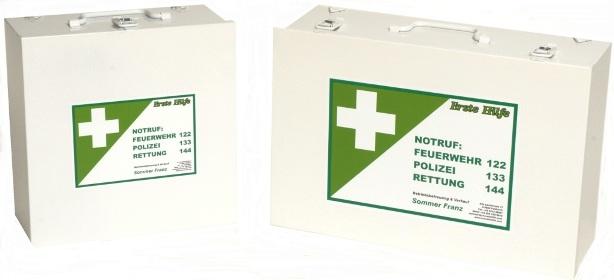 Erste Hilfe-Kasten Metall ÖNORM Z1020 Typ 2  Baustelle