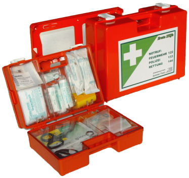 Erste Hilfe-Koffer Kunststoff ÖNORM Z1020 Typ 1 Holzverarbeitung