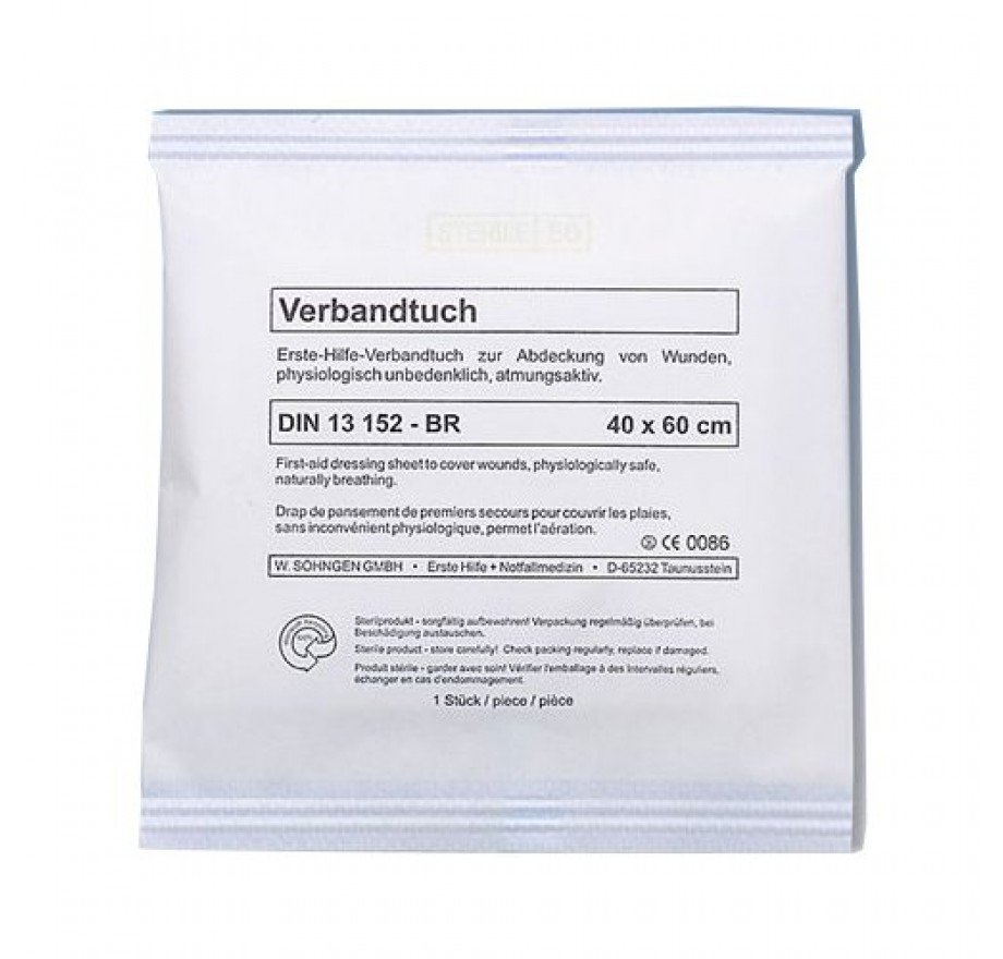 Verbandtuch DIN 13152-BR  40 x 60 cm, steril verpackt